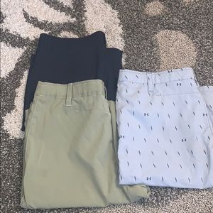 Under Armour and Old Navy lot of (3) shorts